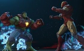 Iron Man vs Hulk in Iron Man Hulk Heroes United 2013 280x170 'Iron Man & Hulk: Heroes United' Images and Clip: Hulk Gets His Own Armor