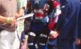 Iron Patriot James Badge Dale in Iron Man 3 280x170 Iron Man 3: Iron Patriot Armor Spotted on Set
