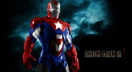 Iron Patriot in Iron Man 3 Iron Man 3: Iron Patriot Armor Spotted on Set