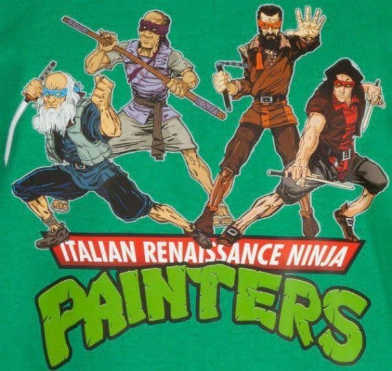 Italian Renaissance Ninja Painters Imgur 570x539 SR Geek Picks: Harrison Ford Wont Talk Star Wars, Best TV Shows Now & More