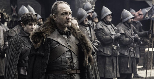Iwan Rheon and Michael McElhatton in Game of Thrones Season 5 Episode 3