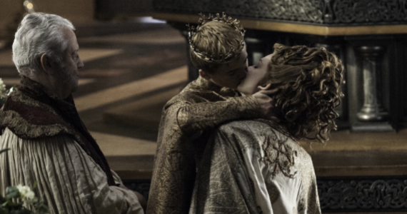 Jack Gleeson as Joffrey and Natalie Dormer as Margaery in Game of Thrones Season 4 Episode 2 Game of Thrones: The Purple Wedding Welcomes Its Guests (SPOILERS)