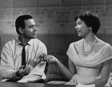 Jack Lemmon and Shirley MacLaine in Billy Wilder's The Apartment 1960
