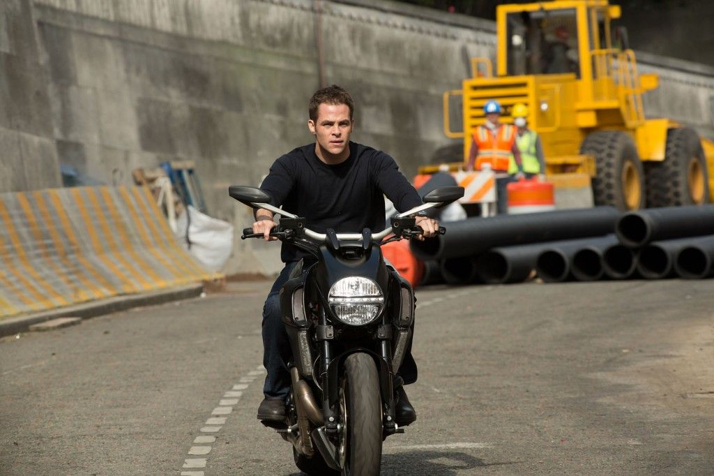 Jack Ryan Shadow Recruit High Res Photo Chris Pine Bike 1024x682 Kenneth Branagh Talks Jack Ryan; Hopeful of Sequels