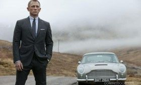 James Bond and his Aston Martin in Skyfall 280x170 New Skyfall Images; Cast Video Interviews