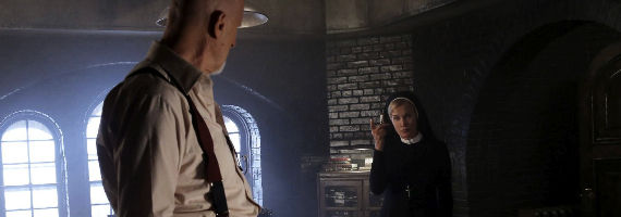 James Cromwell and Jessica Lange American Horror Story Asylum Tricks and Treats American Horror Story: Asylum Episode 2: Tricks and Treats Recap