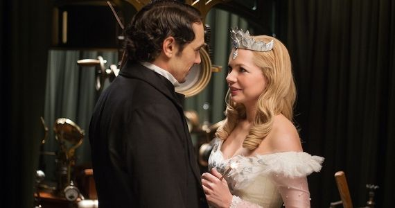 James Franco and Michelle Williams in Oz The Great and Powerful Sam Raimi Talks Re imagining Oz & Why He Cant Watch Amazing Spider Man