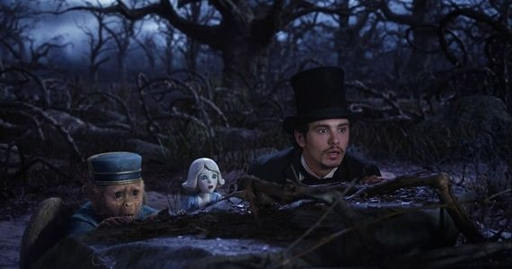 James Franco as the Wizard in Oz the Great and Powerful Sam Raimi Talks Re imagining Oz & Why He Cant Watch Amazing Spider Man