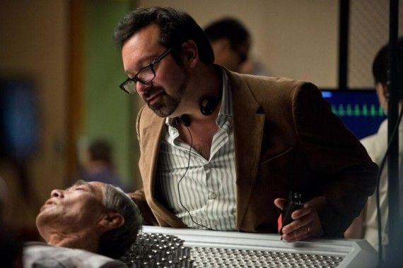 James Mangold and Hal Yamanouchi on the set of The Wolverine 570x380 The Wolverine Set Interview: Director James Mangold