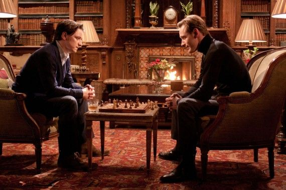 James McAvoy Michael Fassbender X Men First Class Chess 570x380 James McAvoy on Days of Future Past: Biggest & Most Epic X Men Movie Yet