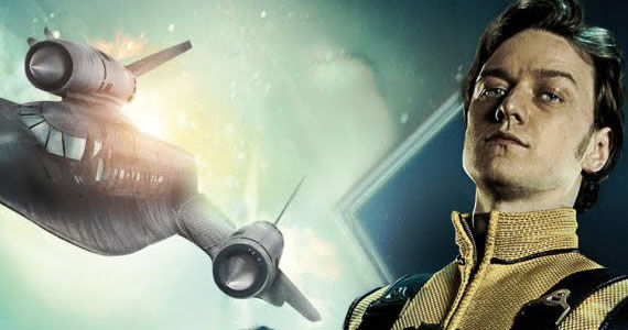 James McAvoy X Men First Class X Jet X Men: Days of Future Past Production Image; Bryan Singer Teases Comic Con Reveal