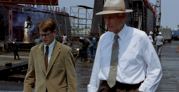 James Rebhorn and Matt Damon in The Talented Mr. Ripley Homeland Actor James Rebhorn Passes Away at 65