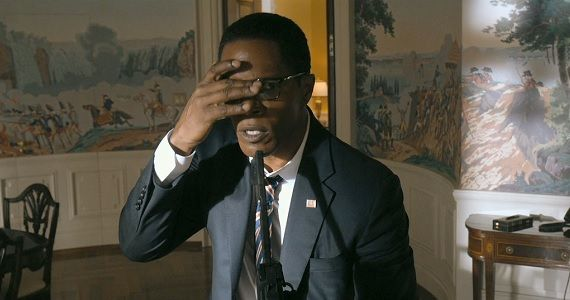 Jamie Foxx in White House Down White House Down Extended Trailer Shows the Lighter Side of Guerilla Warfare