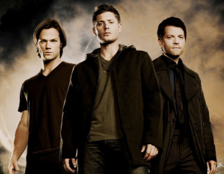 Jared Padalecki Jensen Ackles and Misha Collins in Supernatural