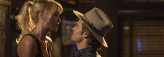 Jenn Lyon and Timothy Olyphant in Justified Wheres Waldo Justified Season 4, Episode 2 Review – The Truth About Waldo