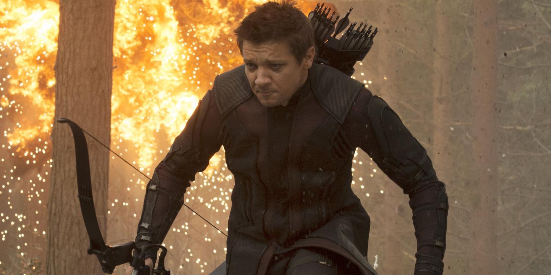 Jeremy Renner as Hawkeye in Avengers Age of Ultron