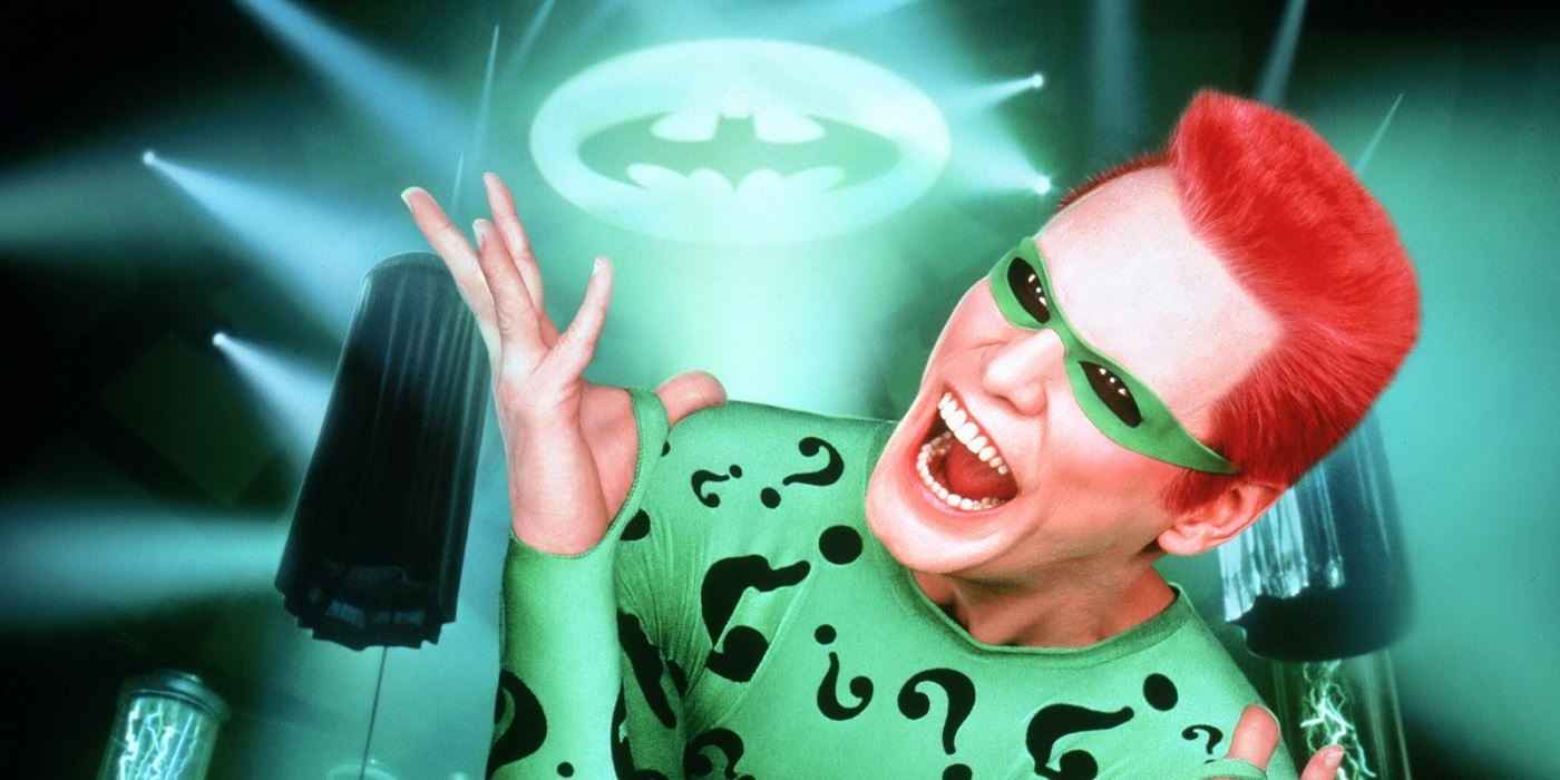 Jim Carrey as The Riddler in Batman Forever