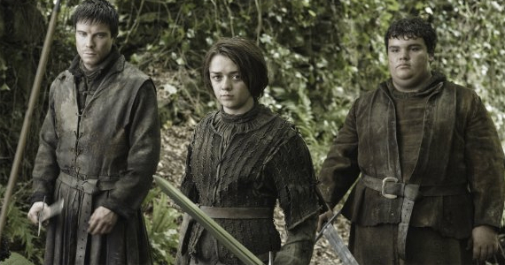 Joe Dempsie Maise Williams and Ben Hawkey in Game of Thrones Dark Wings Dark Words Game of Thrones Season 3, Episode 2 Review – Hes a Monster