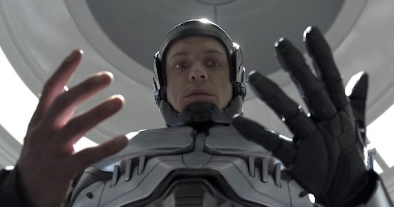 Joel Kinnaman as Alex Murphy in 'RoboCop'