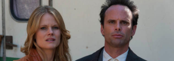Joelle Carter and Walton Goggins in Justified Wheres Waldo Justified Season 4, Episode 2 Review – The Truth About Waldo