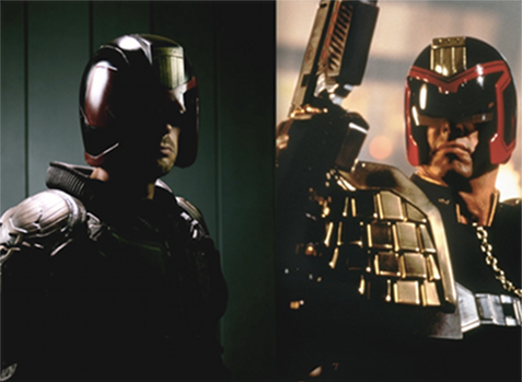 Judge Dredd Karl Urban vs. Sylvester Stallone