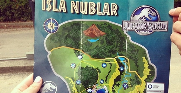 Jurassic World Map Pdf.  Jurassic World New Park Map Brochure Images Tease Dino Attractions