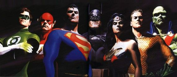 Justice League Alex Ross Art 570x249 Justice League Alex Ross Art