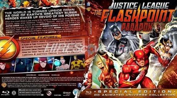 Justice League Flashpoint Paradox Blu ray Cover Art Justice League: The Flashpoint Paradox Review