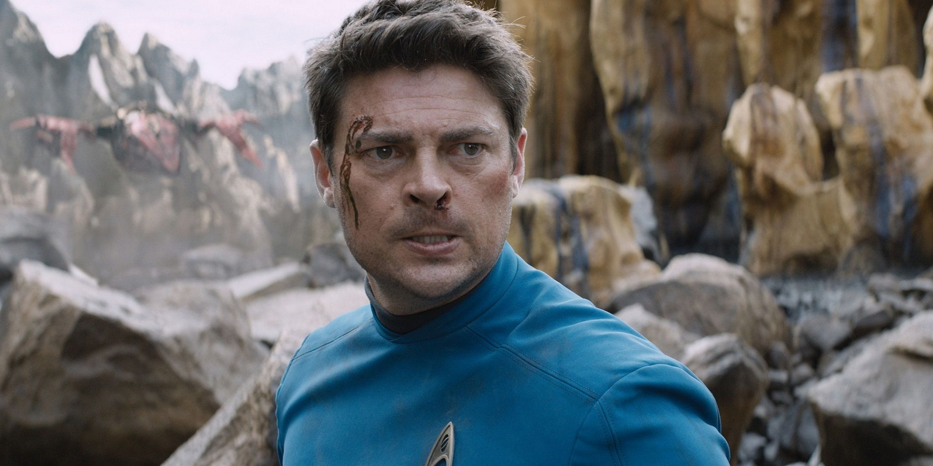 Karl Urban as Bones in Star Trek Beyond