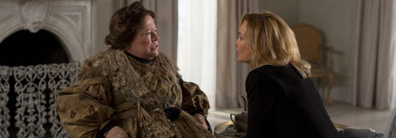 Kathy Bates and Jessica Lange in AHS Boy Parts American Horror Story: Coven: Necromancy with the Stars