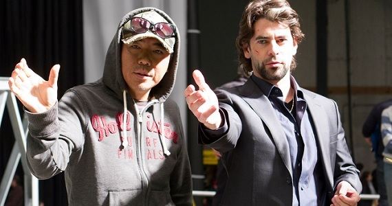 Kim Jee Woon and Eduardo Noriega on the set of The Last Stand The Last Stand Director Kim Jee Woon Attached to Adaptation of Ed Brubakers Coward