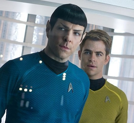 Kirk and Spock Board the Enterprise