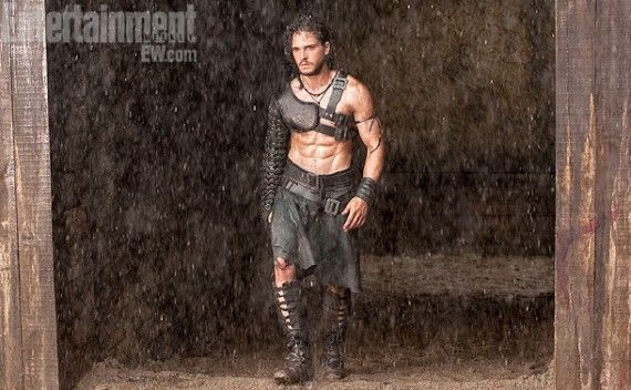 Kit Harington as Milo in Pompeii 570x352 Pompeii Teaser Trailer: 3D Action and Romance in The City Forever Lost