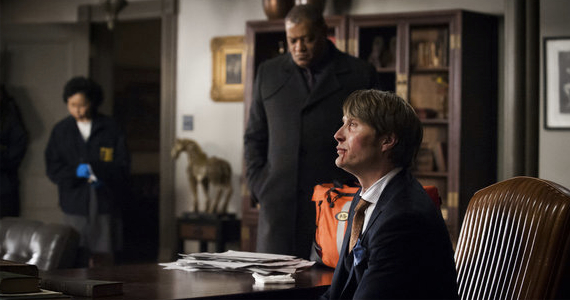 Laurence Fishburne and Mads Mikkelsen in Hannibal Fromage Hannibal Season 1, Episode 8 Review – Professional Curiosity
