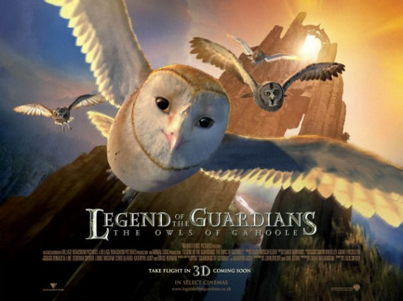 Legend of the Guardians UK quad poster Poster Friday: Resident Evil 4, Piranha 3D, Saw 3D & More!