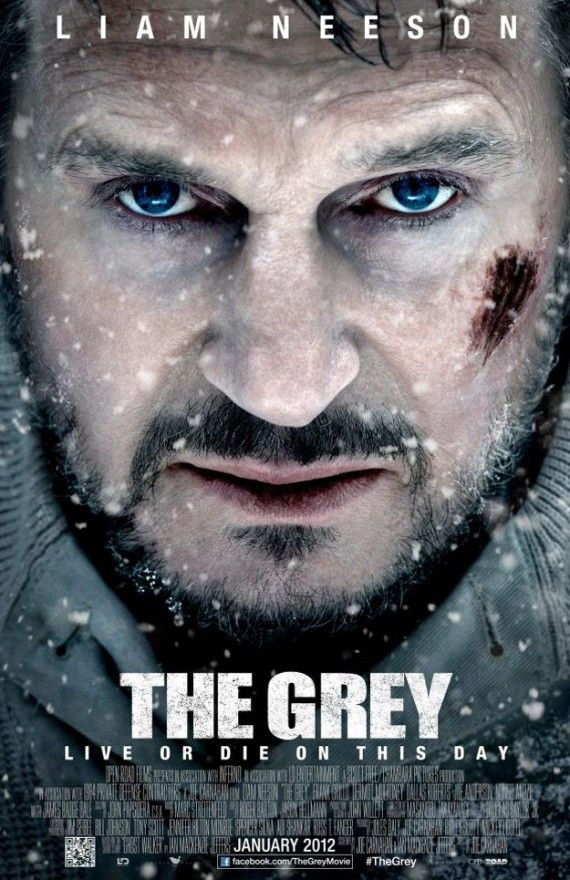 Liam Neeson The Grey Poster 570x880 New Posters: Sherlock Holmes 2, Tower Heist, The Grey, & Texas Chainsaw Massacre