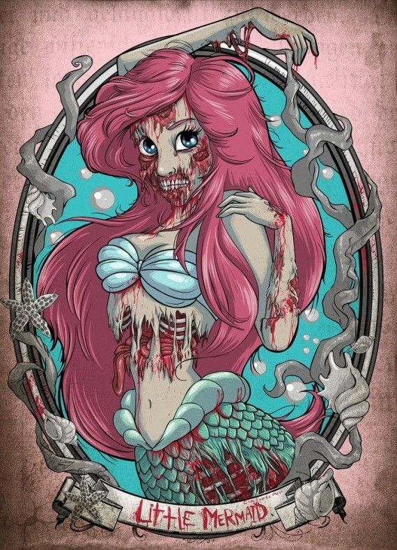 Little Mermaid Zombie 570x789 Little Mermaid Zombie