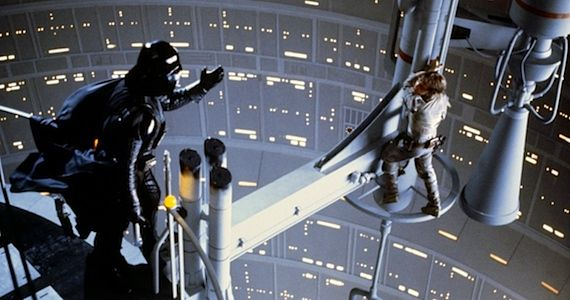 Luke Skywalker and Darth Vader in Empire Strikes Back
