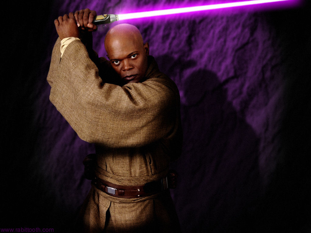 Samuel l jackson star wars lightsaber