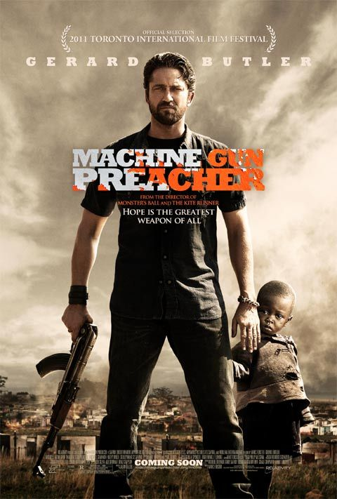 Machine Gun Preacher poster Machine Gun Preacher Trailer: An Inspirational Drama With Bazookas