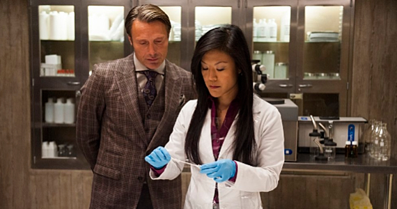 Mads Mikkelsen and Hettienne Park in Hannibal Season 2 Episode 1 Hannibal Season 2 Premiere Review – What a Beautiful Presentation