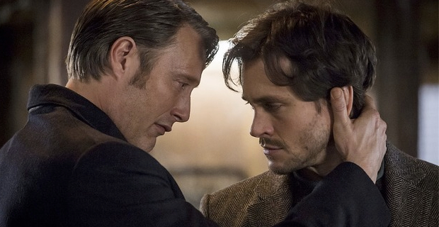 Mads Mikkelsen and Hugh Dancy in Hannibal Season 2 Episode 8 Hannibal: Whispering Through The Chrysalis