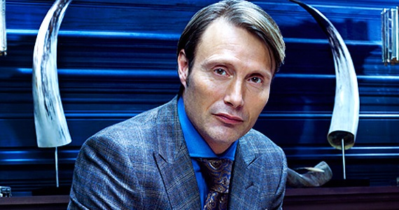 Mads Mikkelsen sports horns in Hannibal Hannibal Season 2 Details and More Revealed at Comic Con Panel