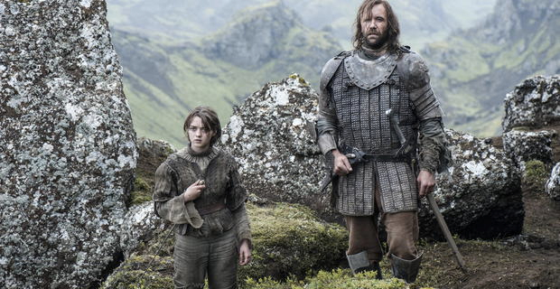 Maisie Williams and Rory McCann in Game of Thrones Season 4 Episode 10 Game of Thrones Showrunners Discuss the Season 4 Finale