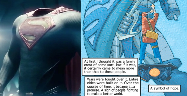 Man of Steel Easter Egg Hope Symbol Man of Steel Easter Eggs, Trivia & References