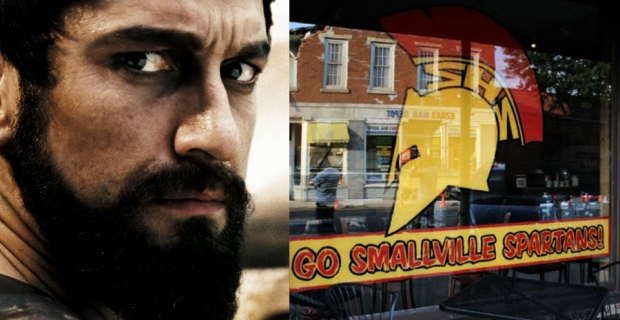 Man of Steel Easter Egg Smallville Spartans 300 Man of Steel Easter Eggs, Trivia & References