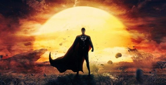 Man of Steel Fan Art Poster 570x294 Why Man of Steel is the Best Superhero Movie of 2013