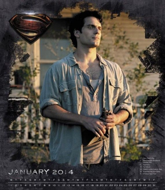 Man of Steel Henry Cavill calendar January 570x657 Man of Steel Henry Cavill calendar   January