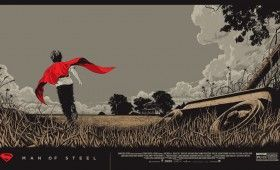 Man of Steel Mondo Posters KenTaylor Regular 280x170 Man of Steel Interviews with Cast, Director & Composer; Limited Edition Mondo Posters