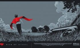 Man of Steel Mondo Posters KenTaylor Variant 280x170 Man of Steel Interviews with Cast, Director & Composer; Limited Edition Mondo Posters